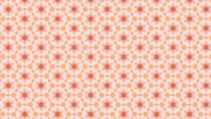 Light Orange Seamless Stars Background Pattern