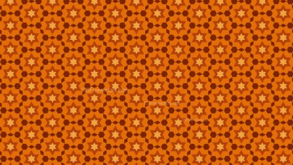 Dark Orange Star Pattern Design