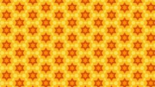 Orange Seamless Star Pattern Vector Image