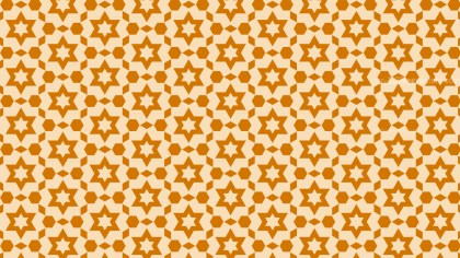 Light Orange Seamless Star Pattern Background Illustrator