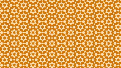 Orange Seamless Star Background Pattern Vector Illustration