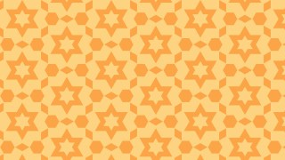 Light Orange Stars Pattern Vector