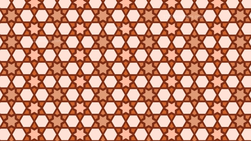 Orange Stars Background Pattern Graphic