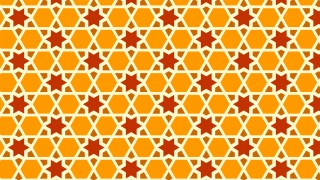 Orange Seamless Stars Pattern Illustration