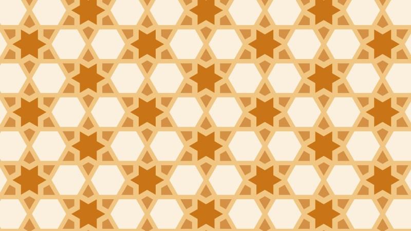 Orange Seamless Stars Pattern Background Design