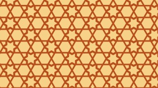 Orange Seamless Stars Background Pattern Image