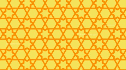 Amber Color Star Pattern