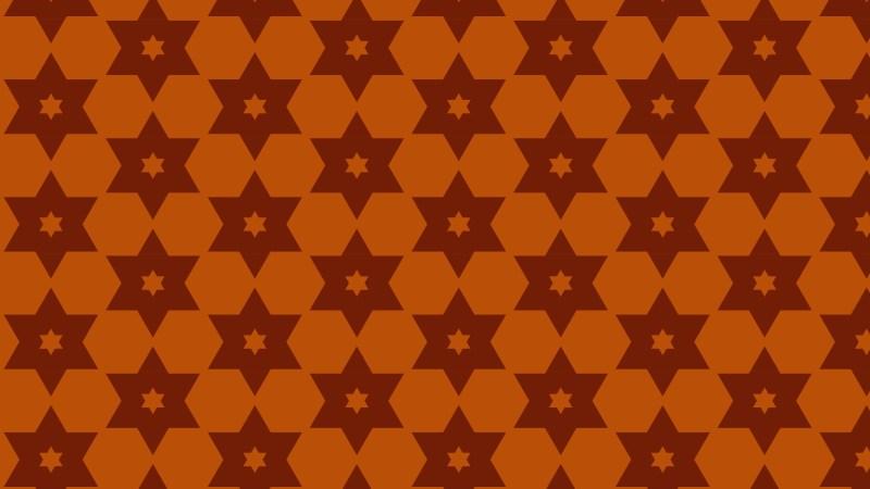 Dark Orange Star Background Pattern