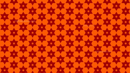 Dark Orange Seamless Star Pattern Background