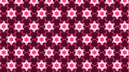 Pink Stars Background Pattern