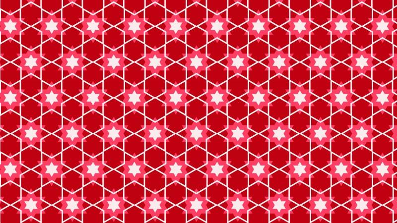 Pink Seamless Stars Background Pattern