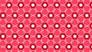 Pink Star Pattern Illustrator