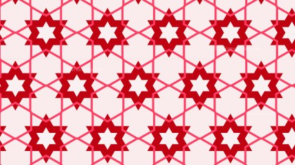 Pink Star Background Pattern Vector