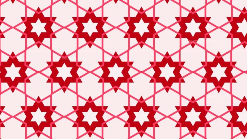 Pink Star Background Pattern Vector