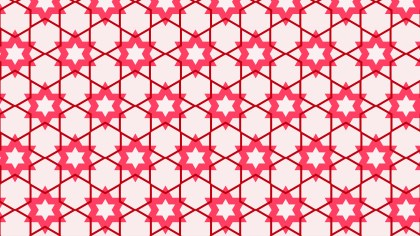 Pink Seamless Star Pattern Vector Art