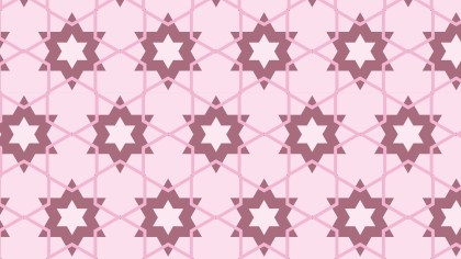Light Pink Seamless Star Background Pattern Illustration