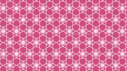 Pink Stars Pattern Design