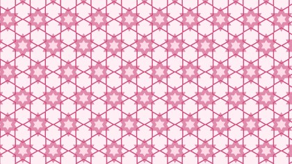 Light Pink Stars Background Pattern Vector Graphic
