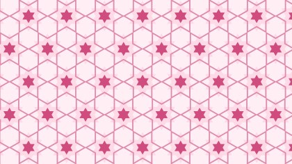 Light Pink Seamless Stars Pattern Vector Image