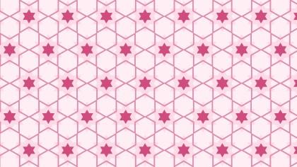 Light Pink Seamless Stars Pattern Vector Image