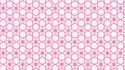 Light Pink Seamless Stars Pattern Background Illustrator