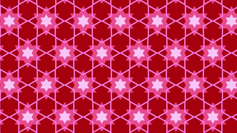 Pink Seamless Stars Background Pattern Vector Illustration