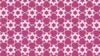 Pink Seamless Star Pattern