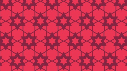 Folly Pink Stars Background Pattern