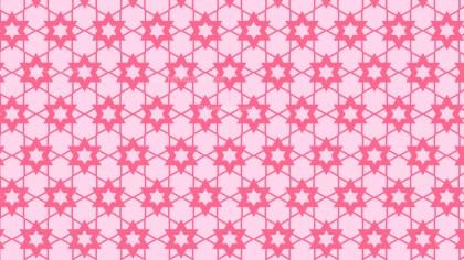 Pink Seamless Stars Pattern Background