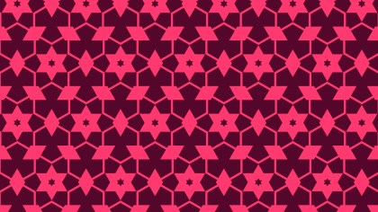 Pink Star Pattern Graphic