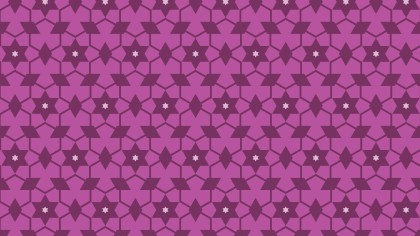 Pink Seamless Star Pattern Background Vector Graphic