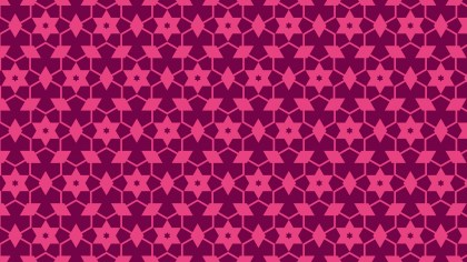 Pink Stars Pattern Background Vector Illustration