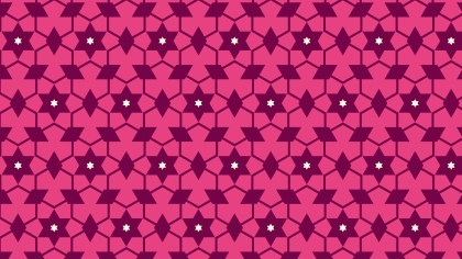 Pink Stars Background Pattern Vector