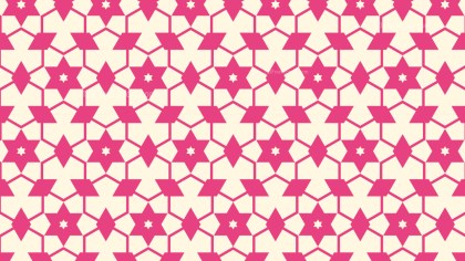 Pink Seamless Stars Pattern Background Graphic