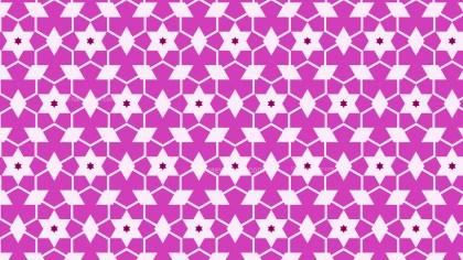 Fuchsia Star Background Pattern