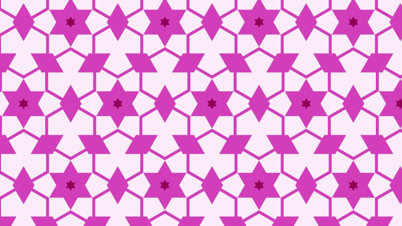 Fuchsia Seamless Star Pattern