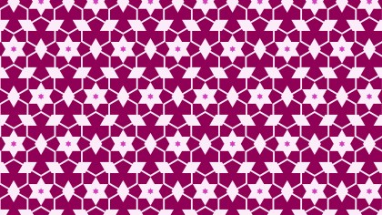 Pink Seamless Star Pattern Background
