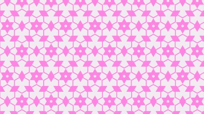 Rose Pink Star Pattern Vector Graphic