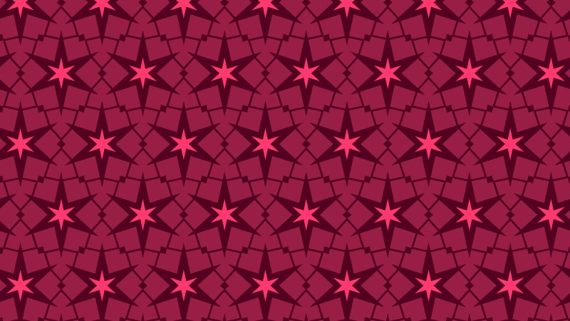 Pink Seamless Star Pattern Background Vector