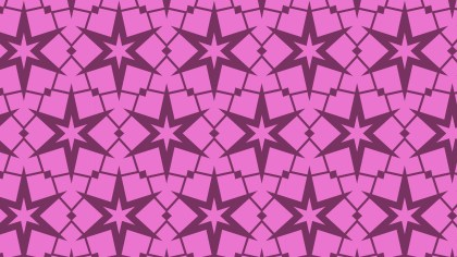 Rose Pink Seamless Star Background Pattern
