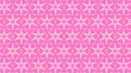 Rose Pink Star Pattern Vector