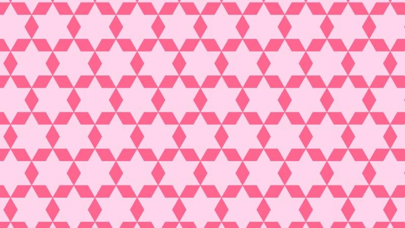 Pink Seamless Star Pattern Illustration