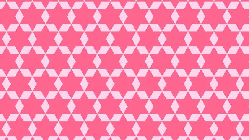Pink Seamless Star Pattern Background Design