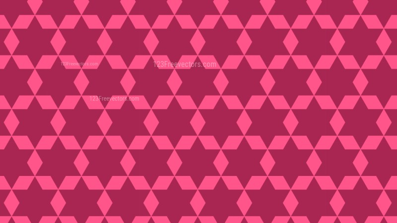 Pink Geometric Star Pattern Vector Graphic