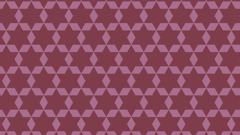 Pink Six Pointed Star Pattern Illustrator