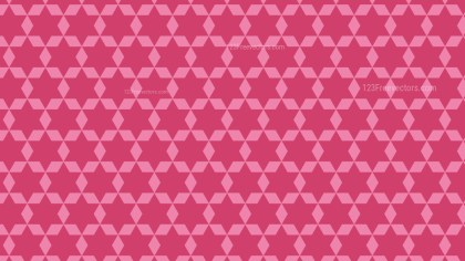 Pink Seamless Stars Pattern Background Vector