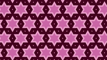 Pink Seamless Stars Background Pattern Vector Art