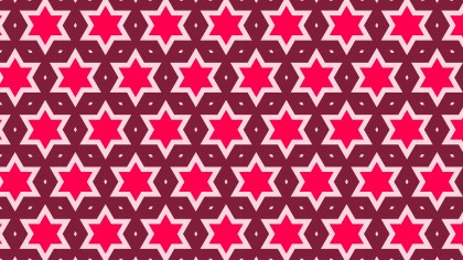 Pink Star Pattern Background