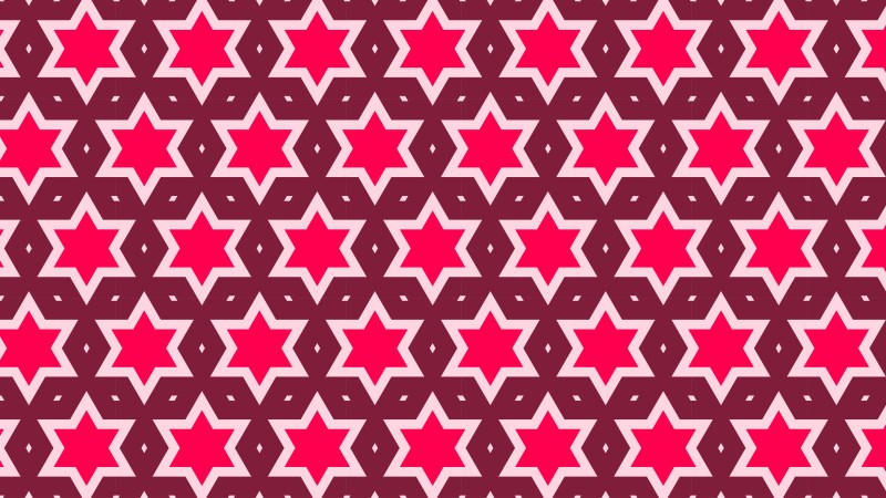 Pink Star Pattern Background