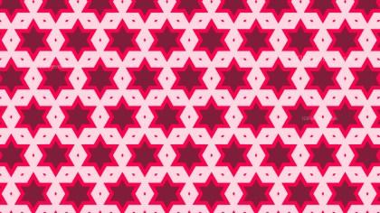 Pink Star Background Pattern
